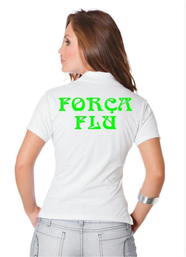 20a9154ca40ca camisa polo feminina força flu. Carregando zoom.