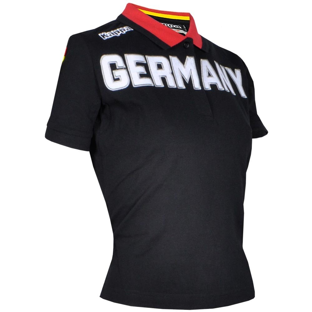 camisa polo feminina germany kappa - original. Carregando zoom. 3219491e67c1b