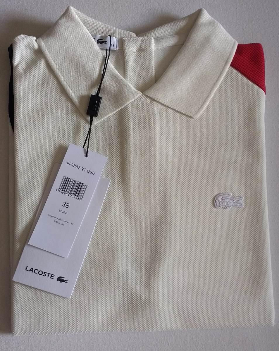camisa polo feminina lacoste piqué de algodão color block. Carregando zoom. 9dc9373540