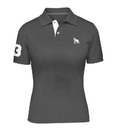 fe8f14276d Camisa Polo Feminina Lobo Branco Vip Vermelha Fps 50+ - R  114
