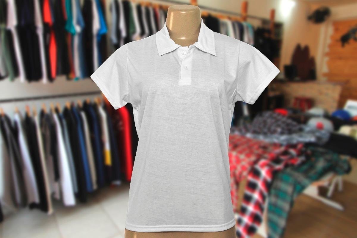 camisa polo feminina p  sublimação 100% poliéster lote 16pç. Carregando  zoom. 83ce4d404f8b4