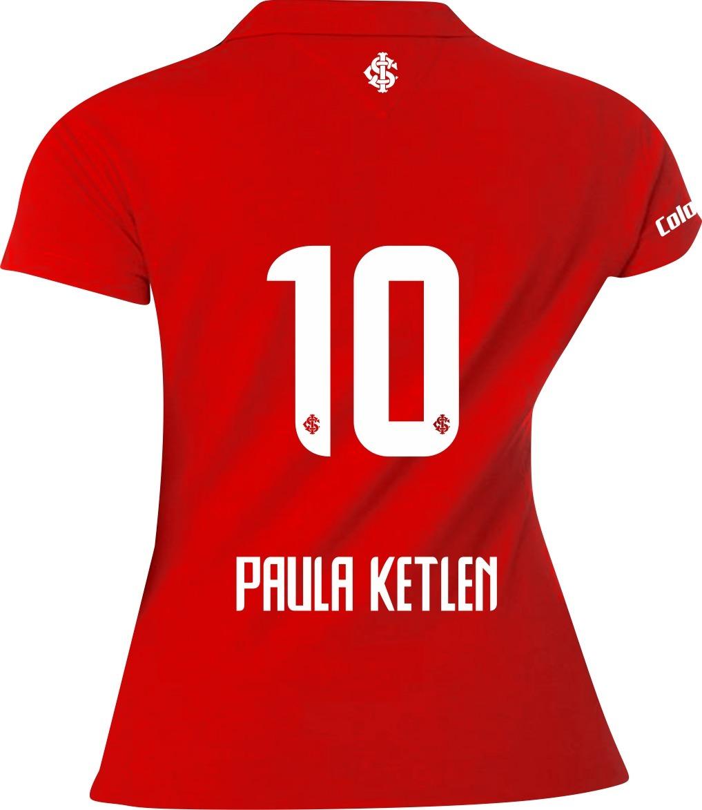 camisa polo feminina personalizada internacional paula. Carregando zoom. 02b886f53531c