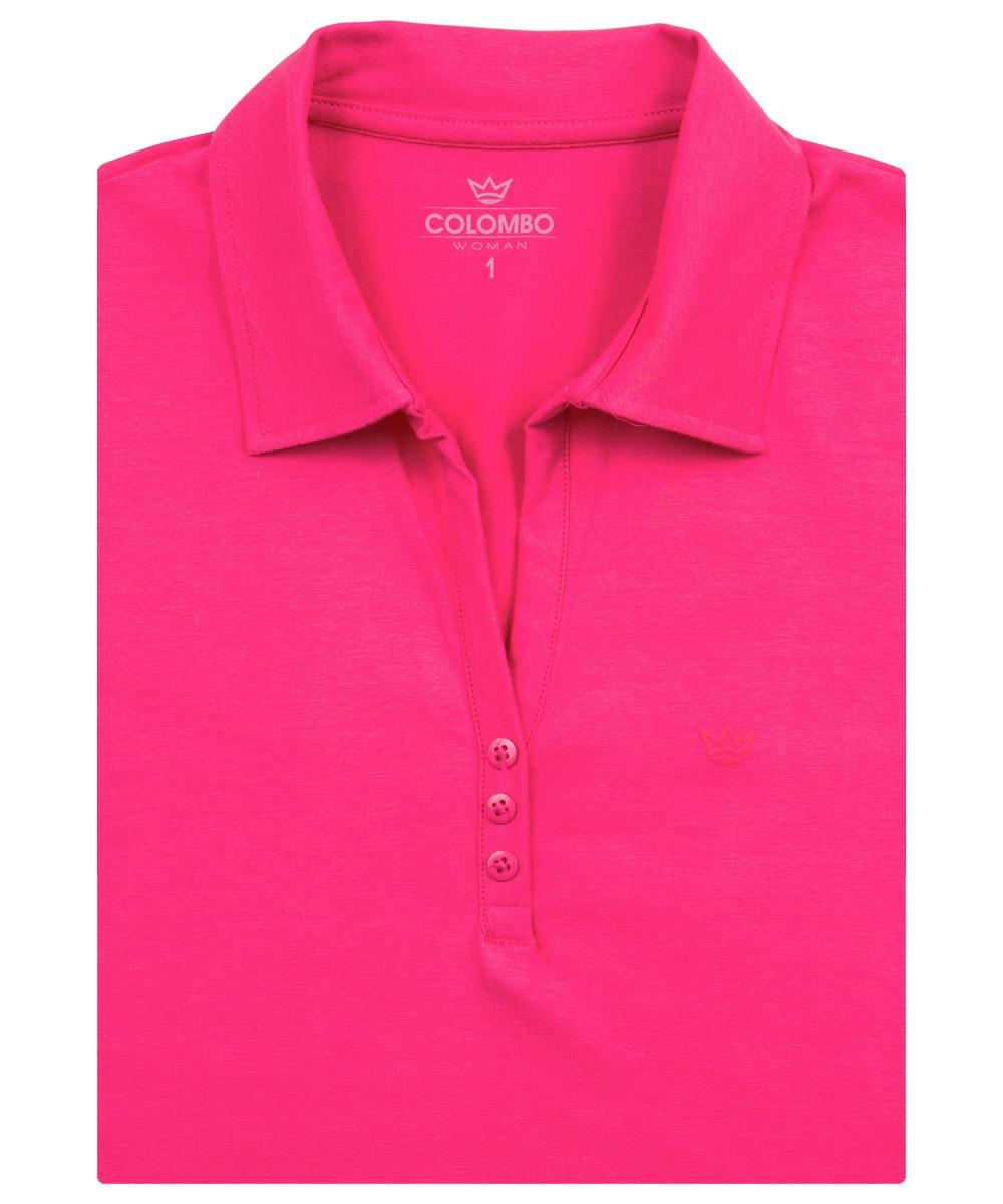 ca6152e494 camisa polo feminina rosa lisa colombo woman. Carregando zoom.