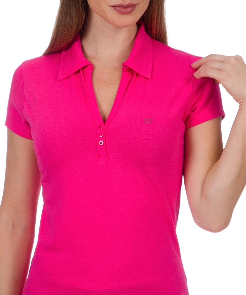 bd88f49037 camisa polo feminina rosa lisa colombo woman. Carregando zoom.