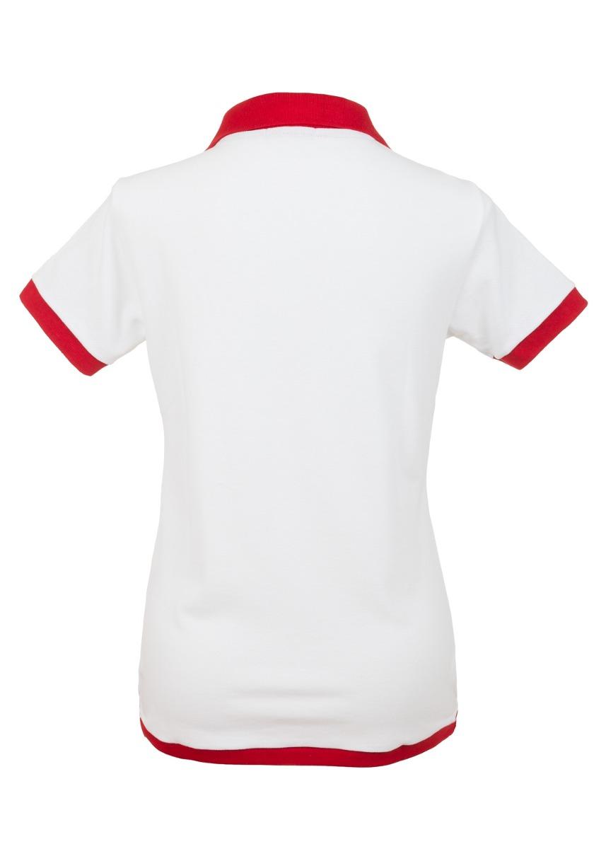 camisa polo feminina spring branca - club polo collection. Carregando zoom. 21b7de68cdb04