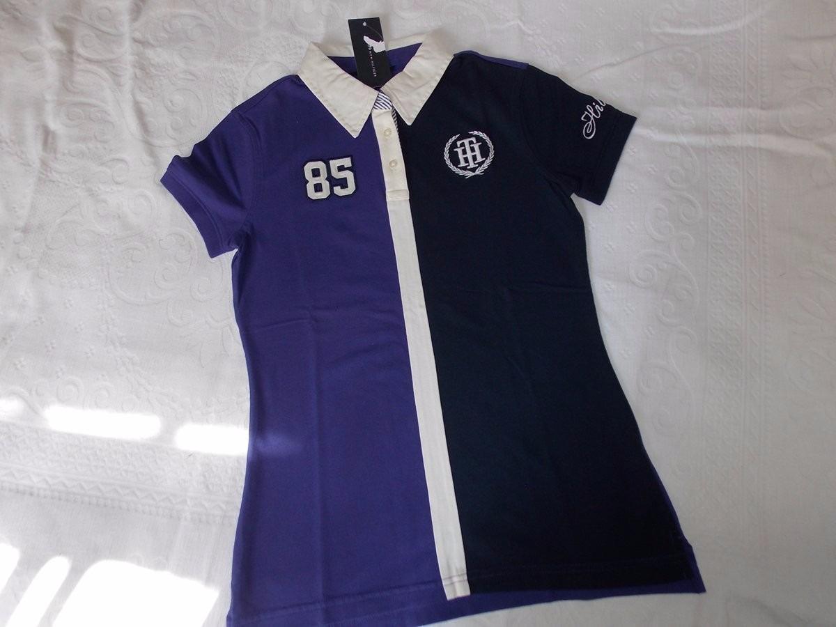 3cdaa55675 camisa polo feminina tamanho p tommy hilfiger com bordado. Carregando zoom.