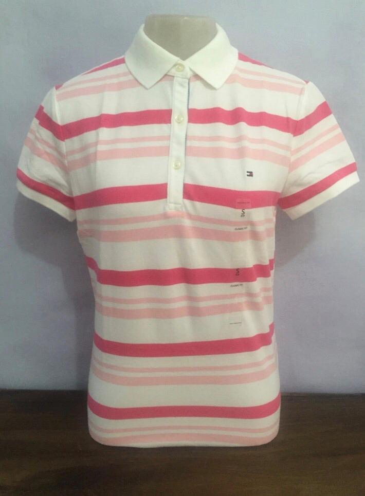 camisa pólo feminina tommy hilfiger listrada 100% original. Carregando zoom. d666207595de1