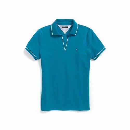 camisa polo feminina tommy hilfiger original - tam: p - p6