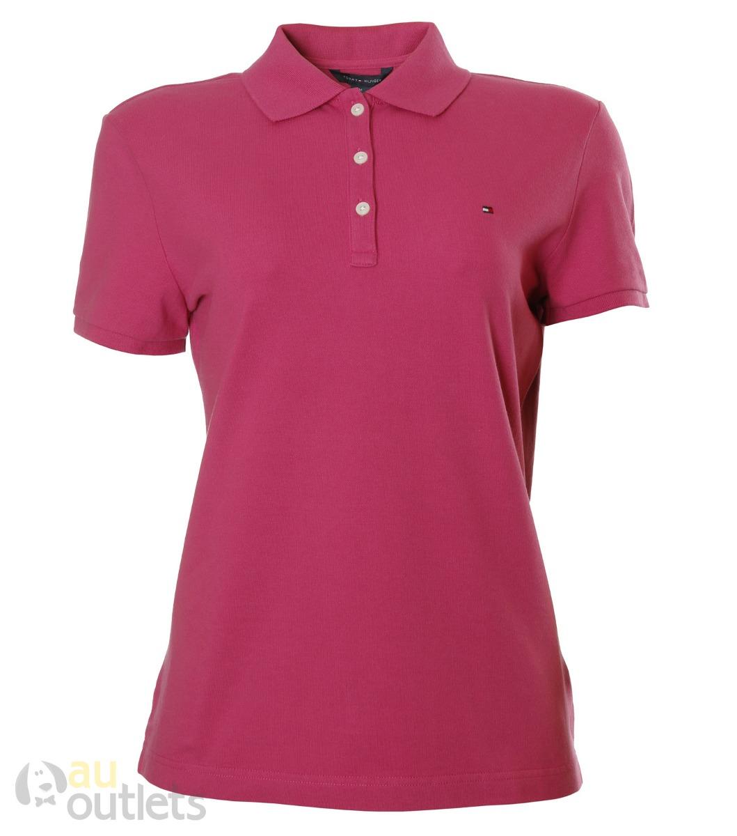 camisa polo feminina tommy hilfiger santina. Carregando zoom. 3fa4e633a73bc