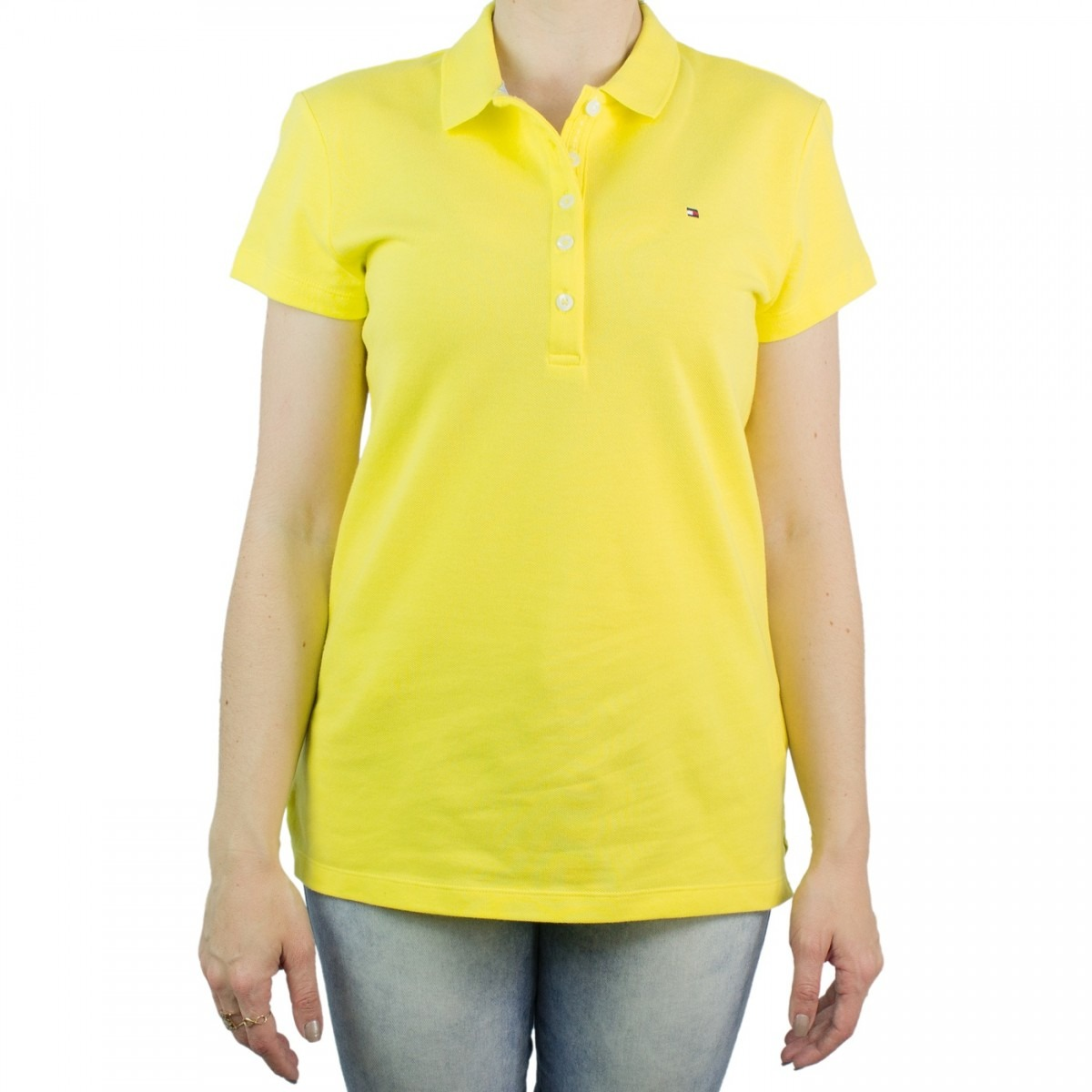 36e45da9d7 camisa polo feminina tommy hilfiger slim fit th1m87657752. Carregando zoom.