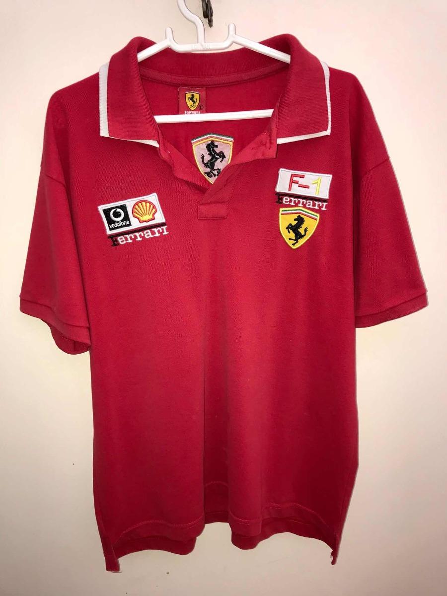 Camisa Polo Ferrari Scuderia Formula 1 - Original - R  59 40a36a3a0d053