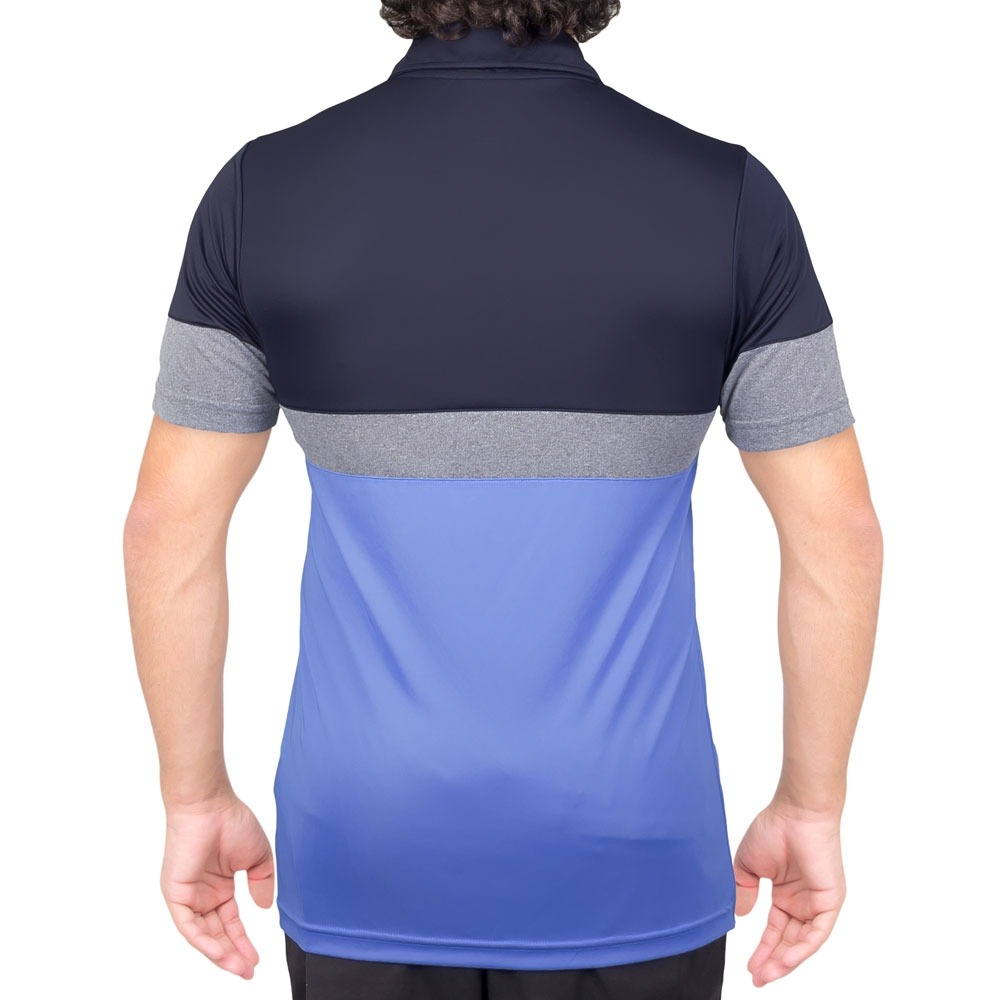 camisa polo fila block melange azul claro marinho e cinza. Carregando zoom. b96685f319381