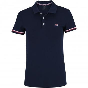 Camisa Polo Fila Soft - Feminina - Cor Azul Esc vermelho - R  84 5c5cba118d8a1