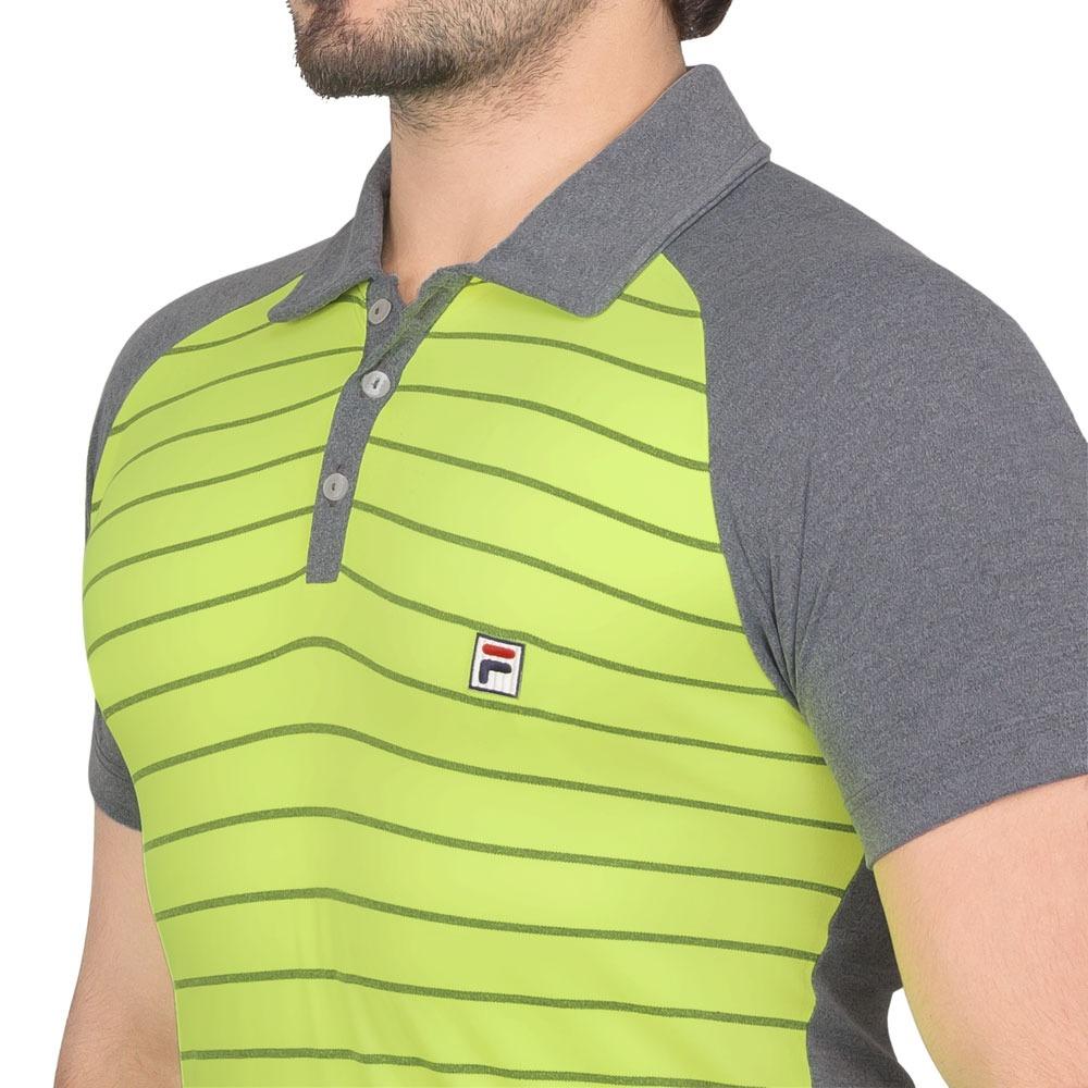 f7f49799e80a0 camisa polo fila wolf iii verde limão e cinza. Carregando zoom.