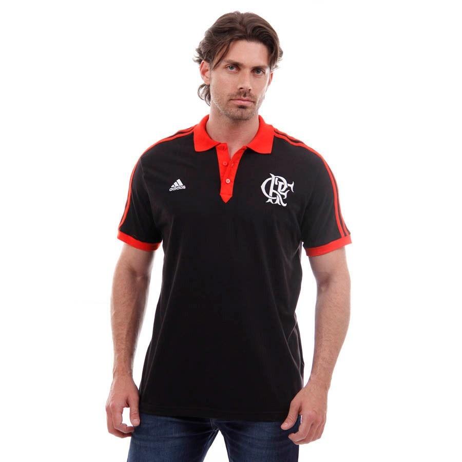 camisa polo flamengo adidas original preta. Carregando zoom. bbb9502183a88