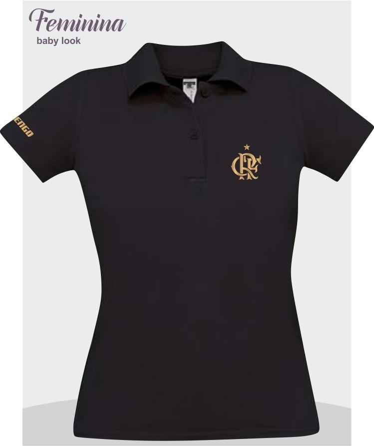 camisa polo flamengo branco premium dourado. Carregando zoom. c6e3e831d8a36