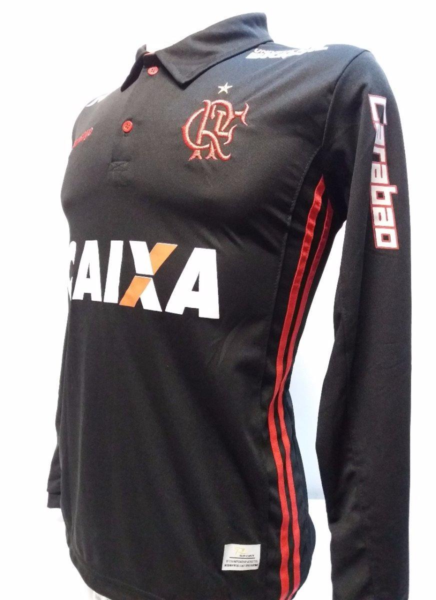 1c9ccb7ff camisa polo flamengo preta manga longa. Carregando zoom.