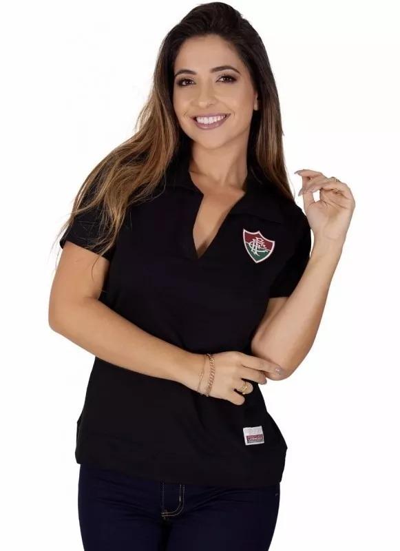 0cdedac380 Camisa Polo Fluminense Feminina Retrô Goleiro Félix Oficial - R  124 ...
