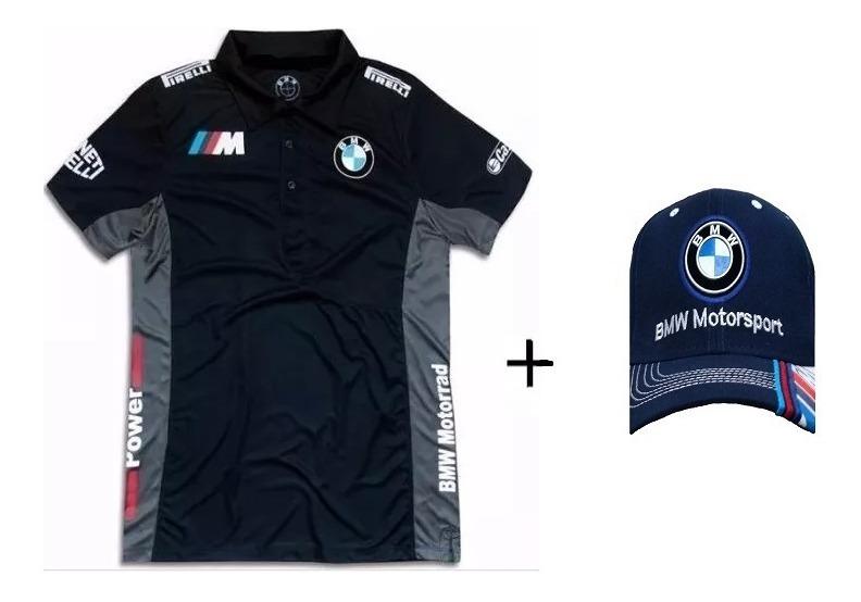eb044c0dd8aa3 Camisa Polo Formula 1 F1 Bmw + Bone Masculina Bm - R$ 89,90 em ...