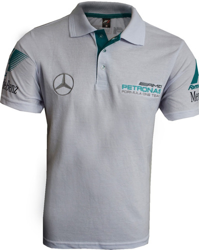 camisa polo formula 1 ferrari mercedes rbr kit 5 peças