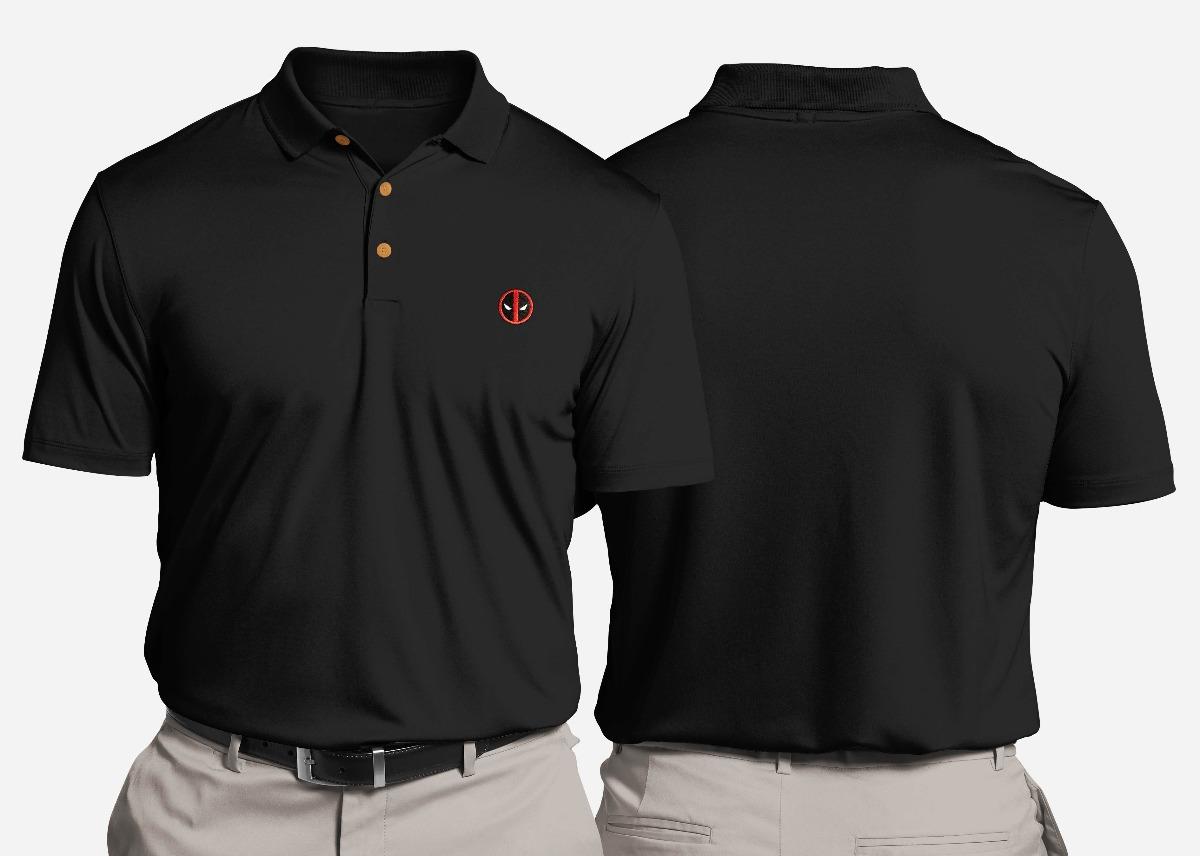 d24709a8b5733 Camisa polo gildan importada logo bordado deadpool cargando zoom jpg  1200x856 Logo bordado camisa tipo polo