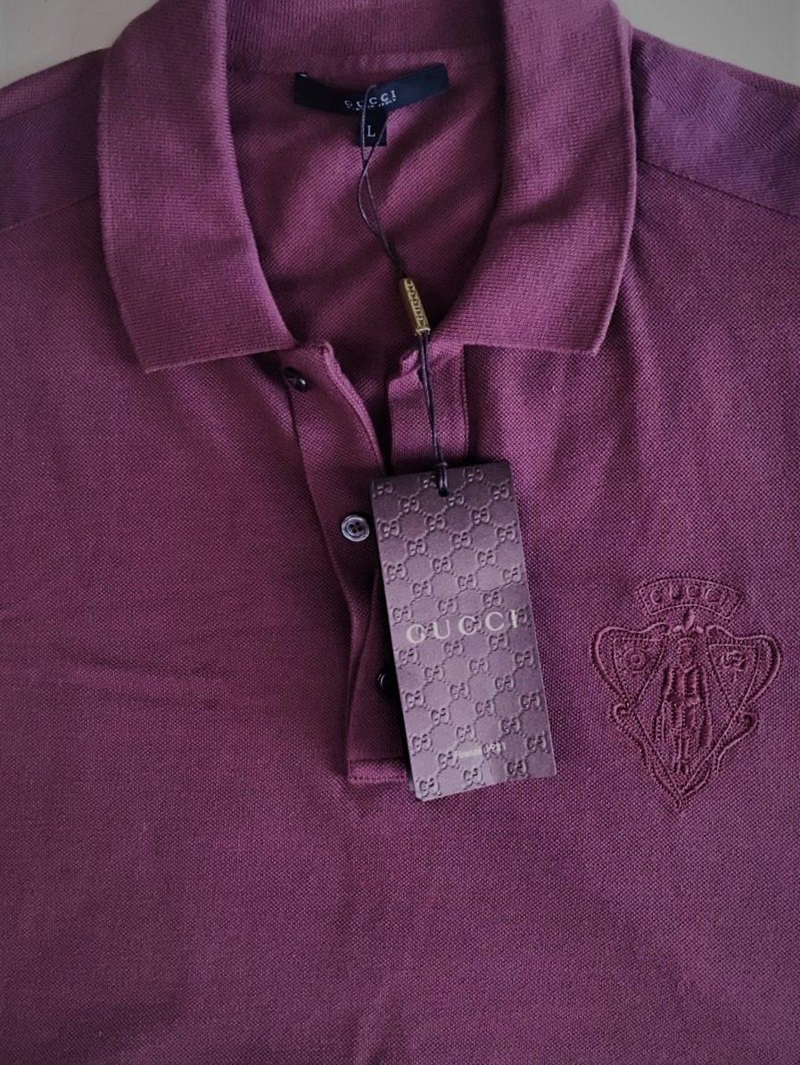 dc3f4a5339b camisa polo gucci luxo exclusiva tamanho g original. Carregando zoom.