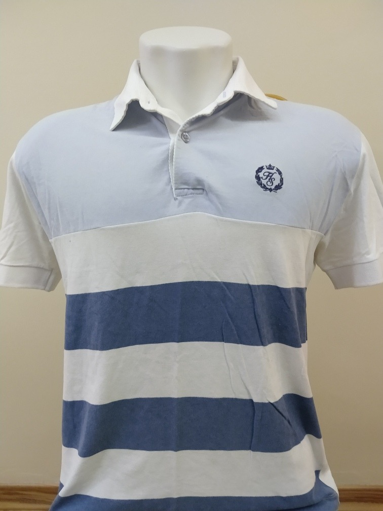 d24726da4792e camisa polo harry s cor branco com listras azul escuro e cla. Carregando  zoom.