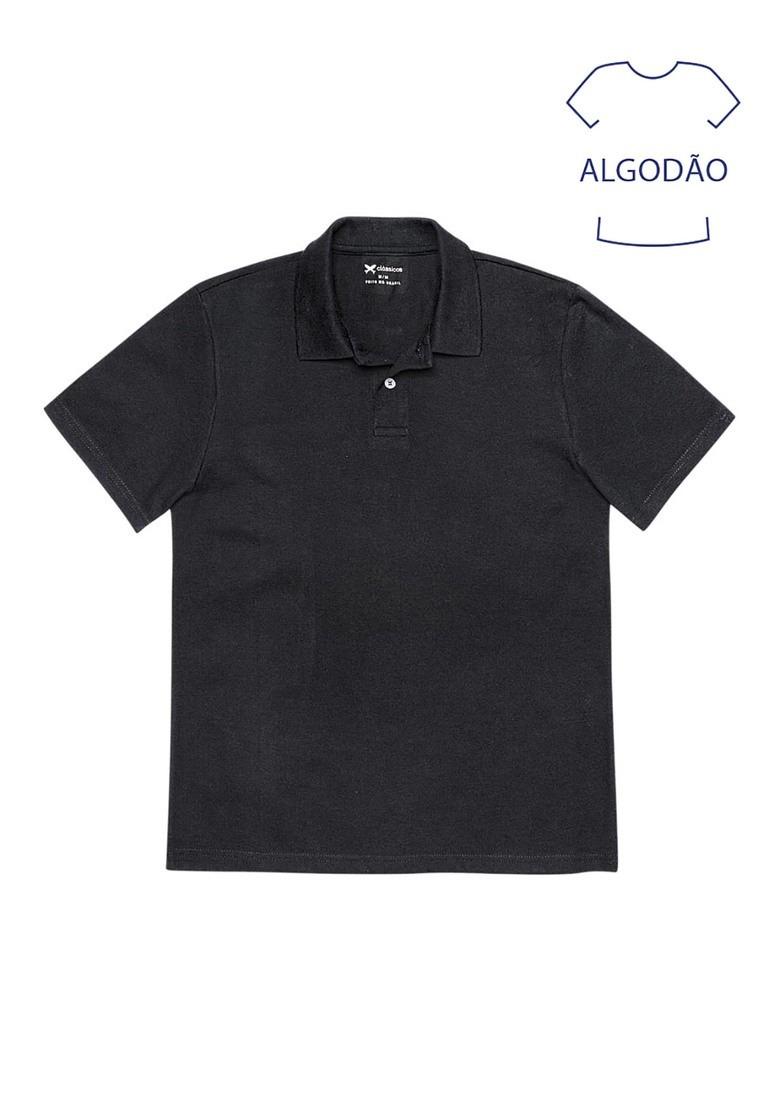 camisa polo hering preta masculina básica em piquê. Carregando zoom. 9e010eb07f97e