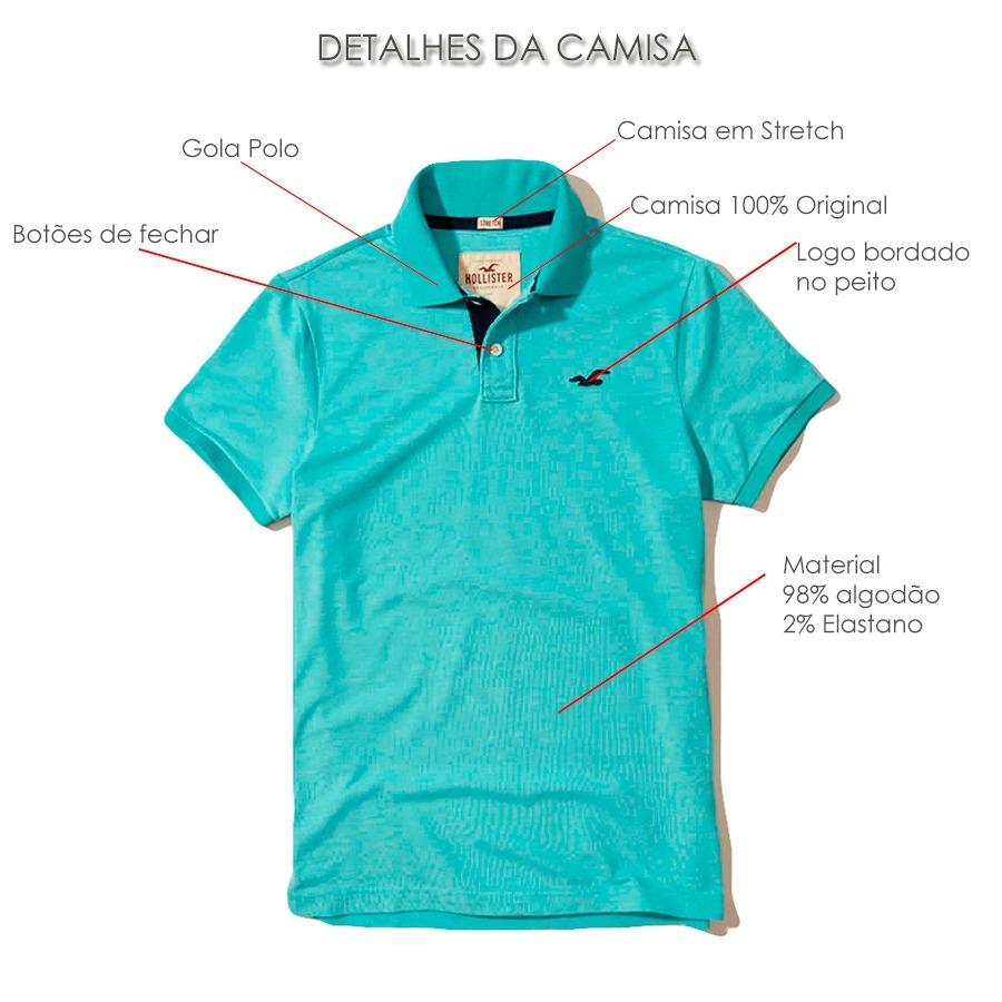 0a91a3114f camisa polo hollister original masculina stretch pique. Carregando zoom.