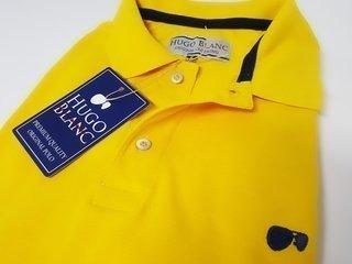 e2ef0d1a30 Camisa Polo Hugo Blanc Tamanhos Especias Piquet Amarelo Ouro ...