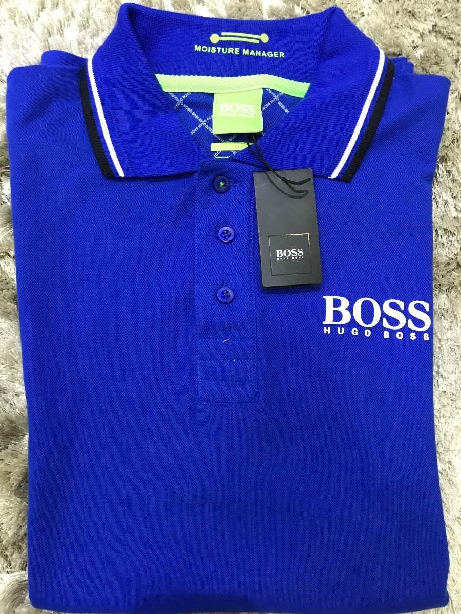 camisa polo hugo boss azul marinho lisa masculino. Carregando zoom. f5e2561c1ca40