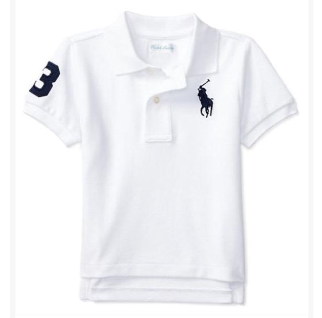 Infantil Branca Lauren Polo Ralph Camisa eH2WEIYD9
