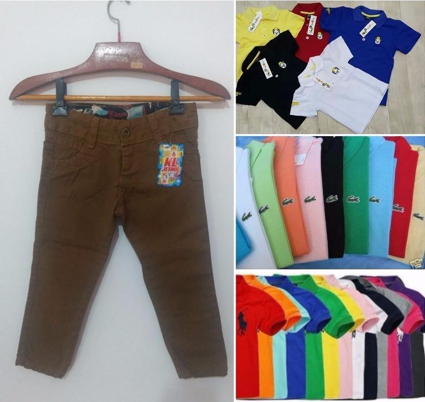 d5530a15f3 camisa polo infantil com calça jeans infantil. Carregando zoom.
