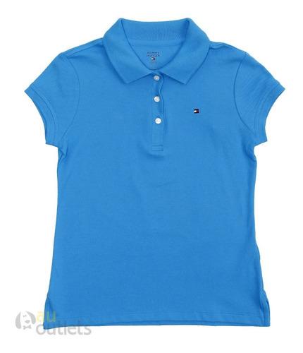 camisa polo infantil feminina tommy hilfiger bloom