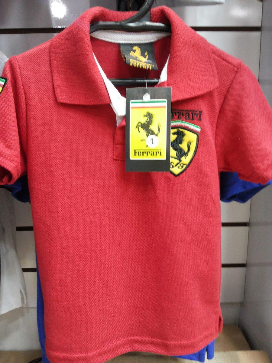 camisa polo infantil ferrari importada!!! Carregando zoom. 0e9d03b09af