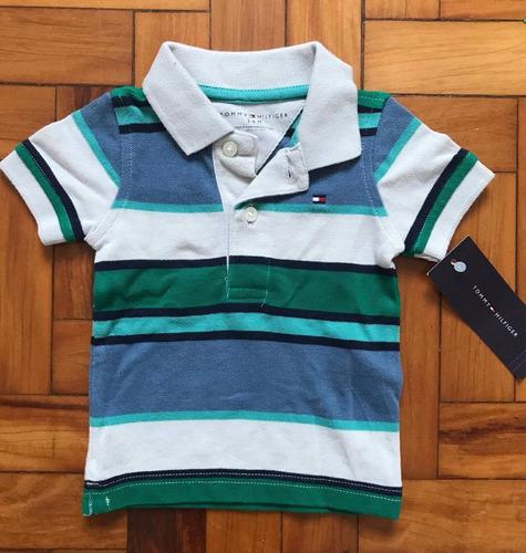 camisa polo infantil importada tommy hilfiger - 3/6 meses