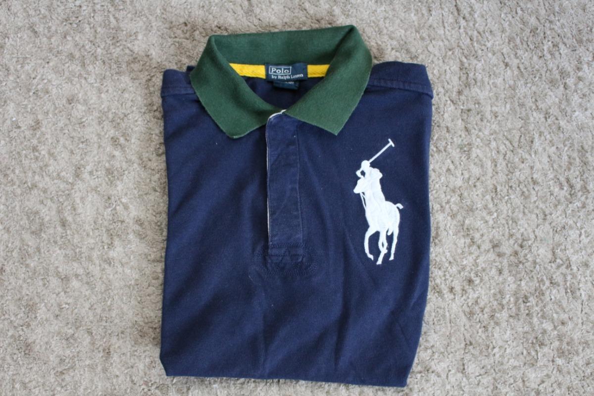 4a52930bed camisa polo infantil original polo ralph lauren - tam 10-12. Carregando zoom .