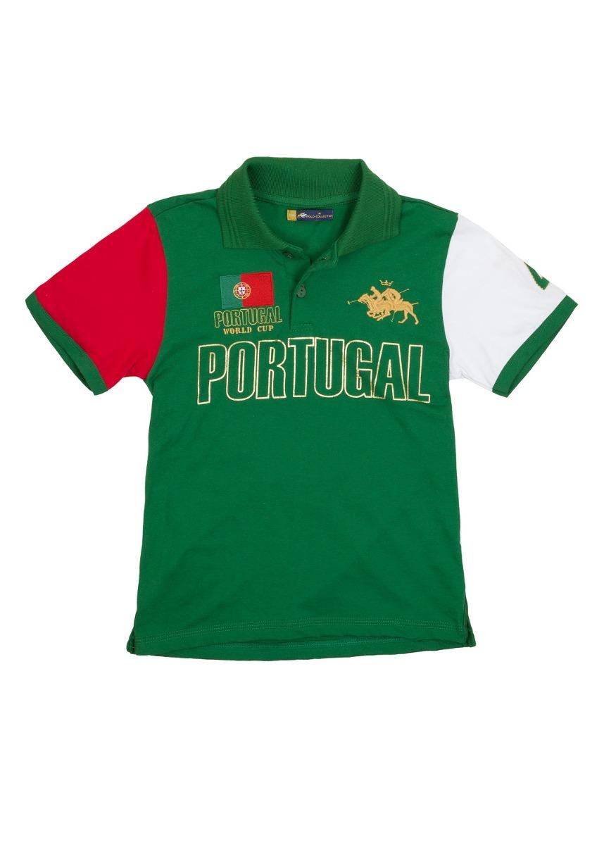 c326b7a1d0 camisa polo infantil portugal verde - club polo collection. Carregando zoom.