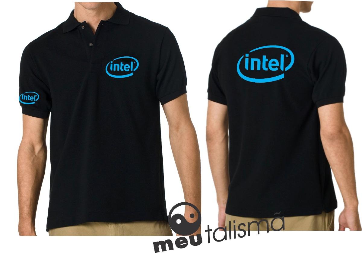 ad43e4a117aaa camisa poló informática intel. Carregando zoom.