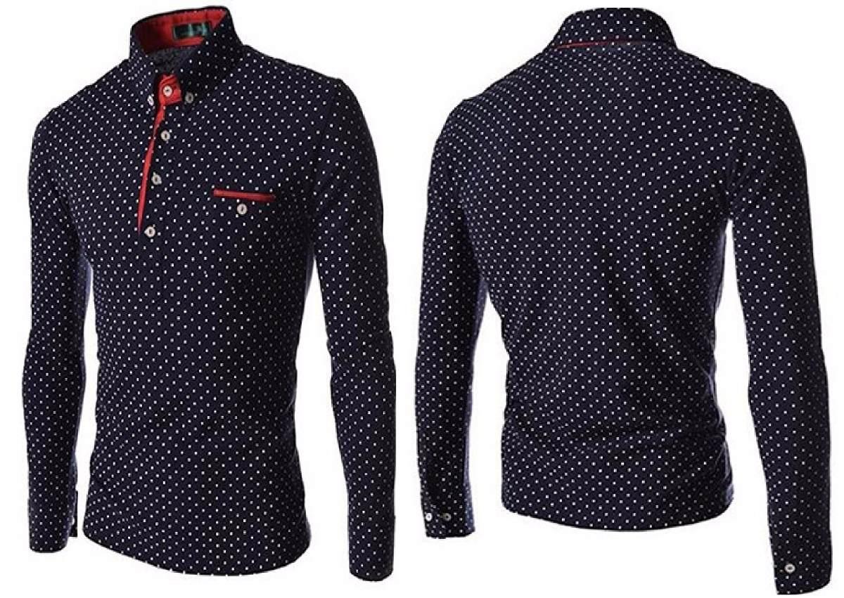 camisa polo inglaterra moda top slim c  bolso manga comprida. Carregando  zoom. 57118cfd93f7a