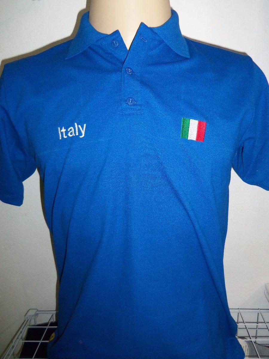 camisa polo italia bordada. Carregando zoom. 90c02e11f1ef9