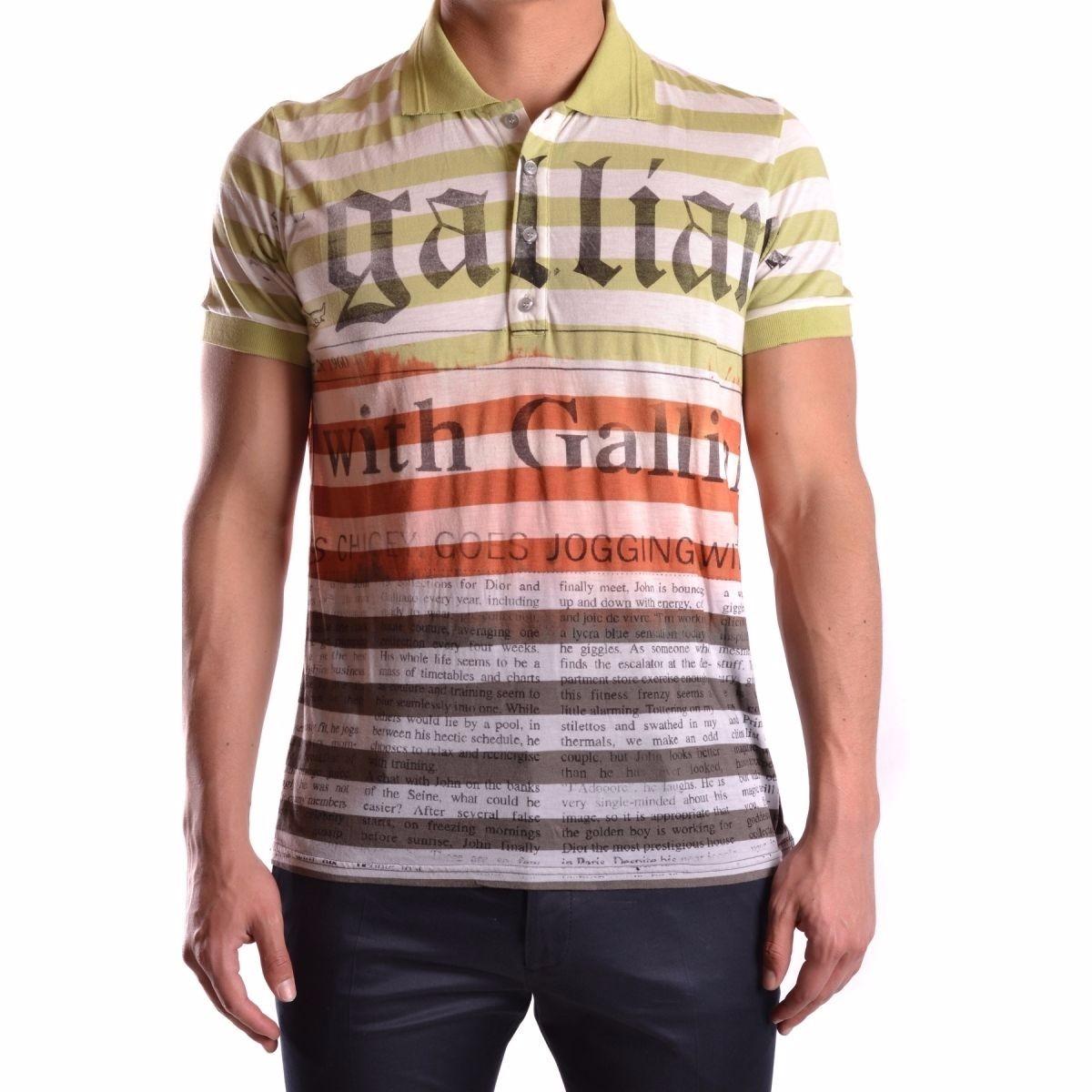 Camisa Polo John Galliano Made In Greece Exclusiva Única - R  429 7ce652d1025c2