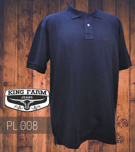 camisa polo king farm marinho - pl008