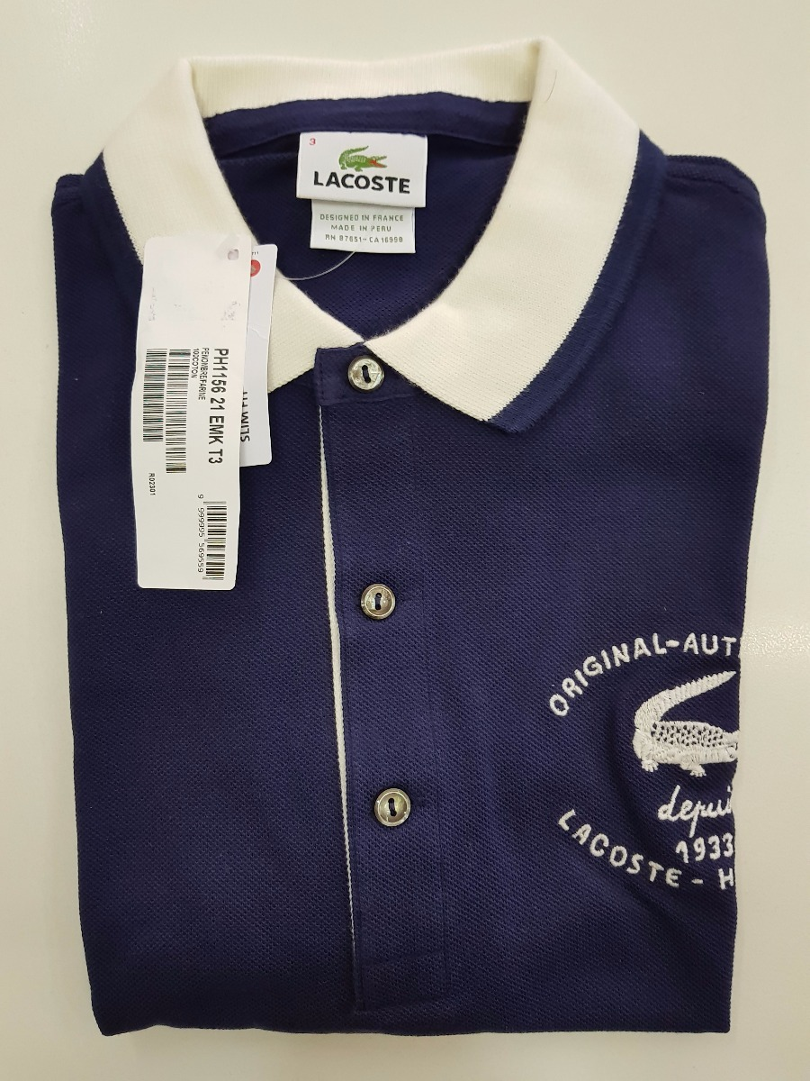 f444cb8f23585 Camisa Polo Lacoste 100% Original 2017 Made In Peru Promoção - R  299