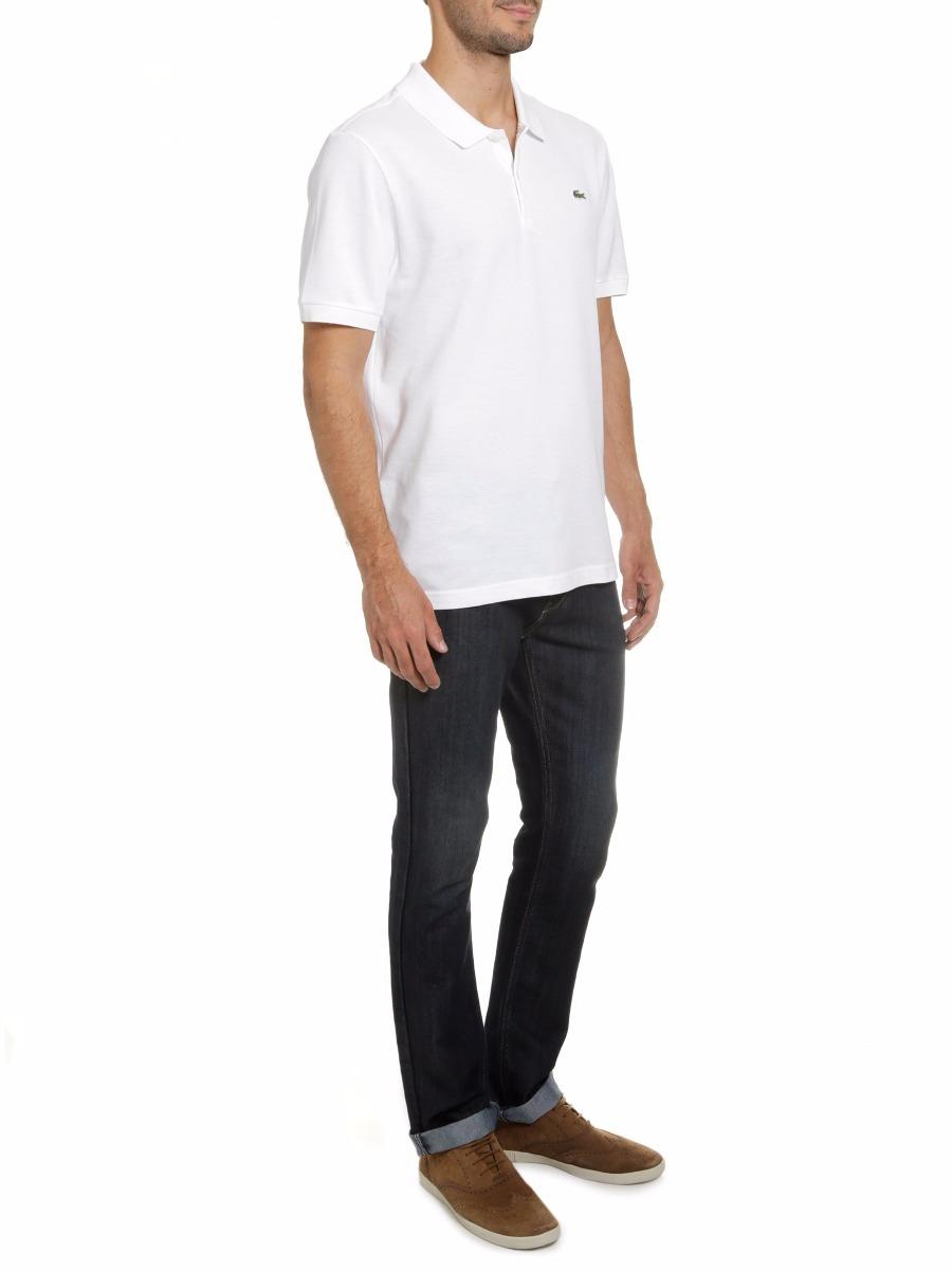camisa polo lacoste branca masculina para reveillón original. Carregando  zoom. 88d1abd21c