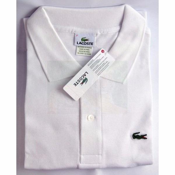 00c43207c13 Camisa Polo Lacoste Branca Masculina Para Reveillón Original - R ...