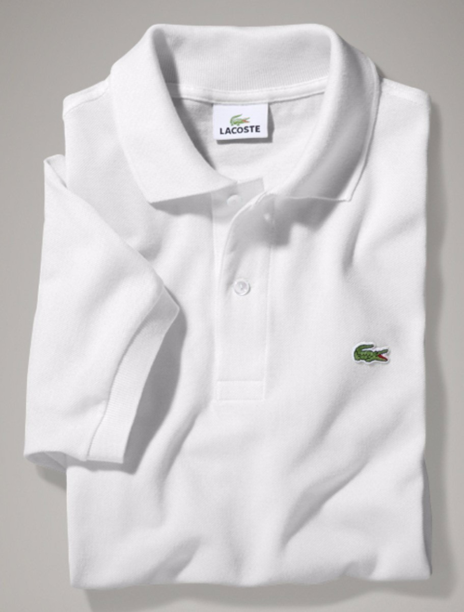 a0034a7671672 Camisa Polo Lacoste Com Etiqueta-nova-branca - Realengo - R  45