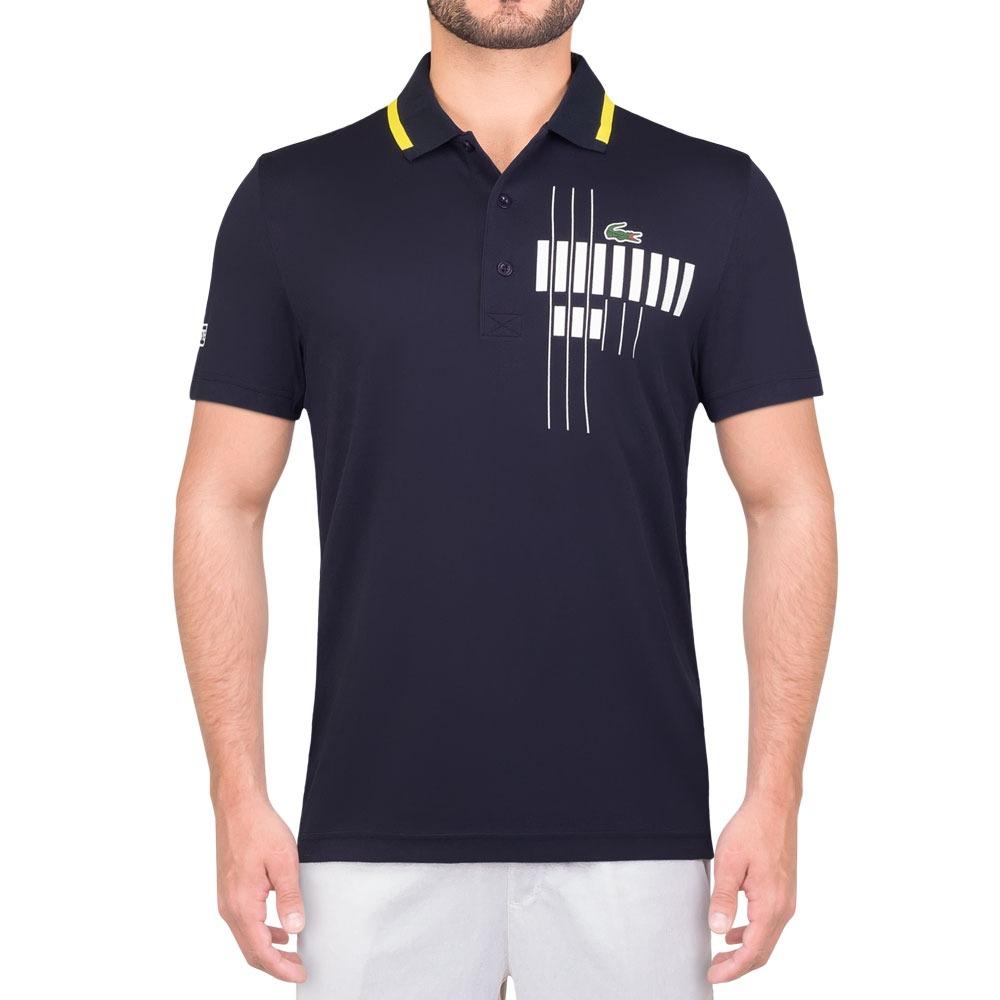 debe79dd64f camisa polo lacoste fancy dh7971 tennis djoko marinho. Carregando zoom.