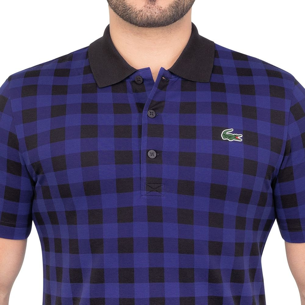 camisa polo lacoste fancy golf marinho. Carregando zoom. c02c0afb000