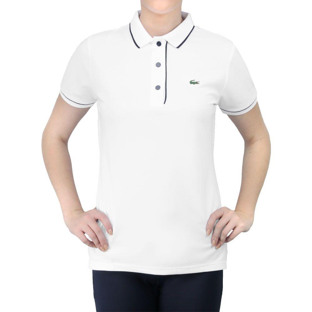 7715652fc41 camisa polo lacoste fancy tennis 1 branca e marinho. Carregando zoom.
